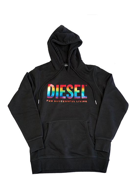 Diesel Pride Hoodie Black 2020