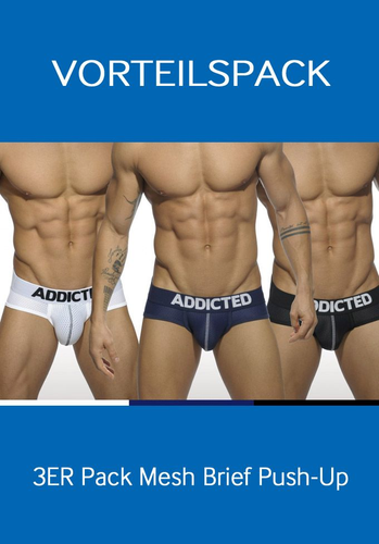 Addicted 3er Pack Mesh Brief