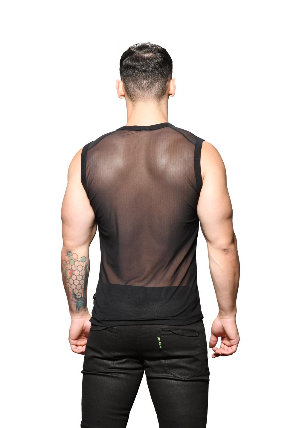 Andrew Christian Sheer Sleeveless V-Neck