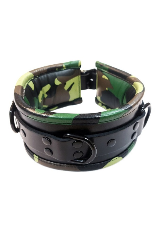 Rouge RC1008 black/camo 3-D Ring-Halsband gepostert
