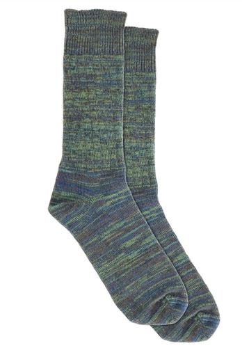 BB SO2-NAGR Socken Navy-Grün-Grau