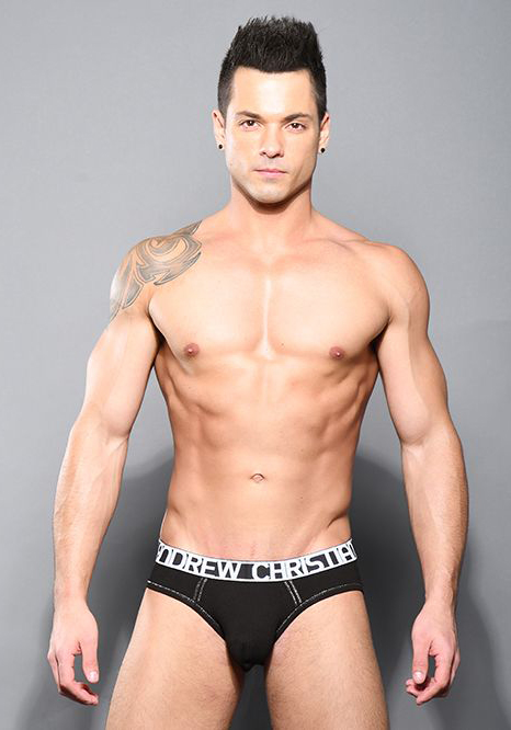 Andrew Christian Almost Naked Cotton Brief | Black