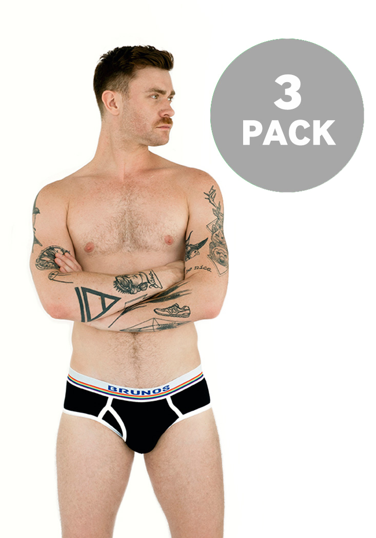 BRUNOS Brief Black 3-Pack