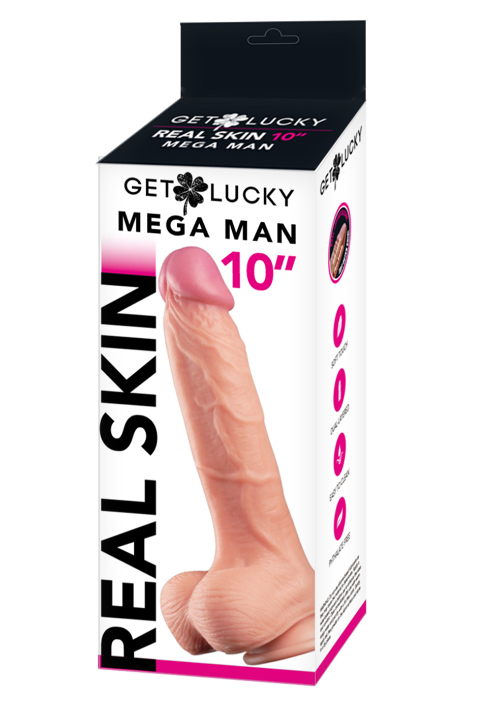 Get Lucky: Flesh Real Skin Dildo 10''