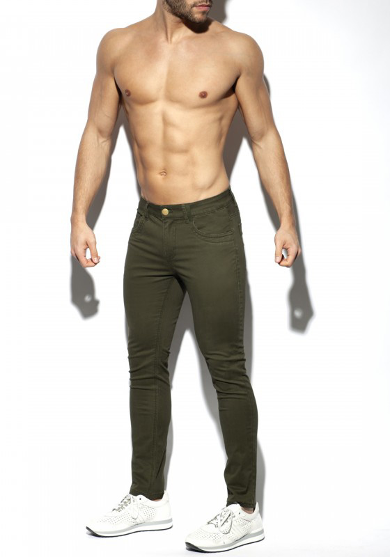 ES Collection Slim Fit Trousers | Army