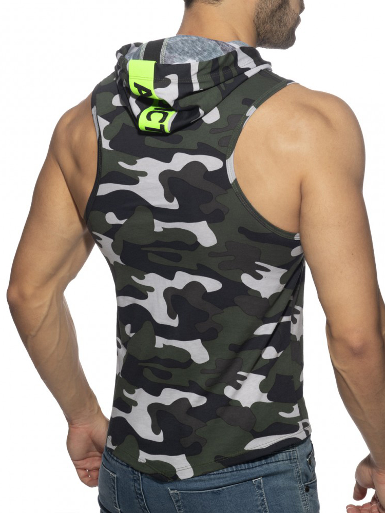 Addicted Band Cotton Hoody   Camouflage