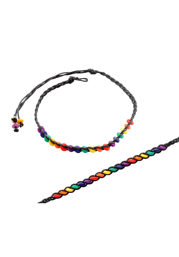 Regenbogen Perlenarmband