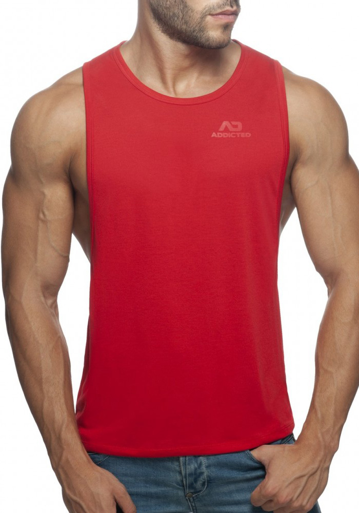 Addicted Low Rider Tank Top | Red
