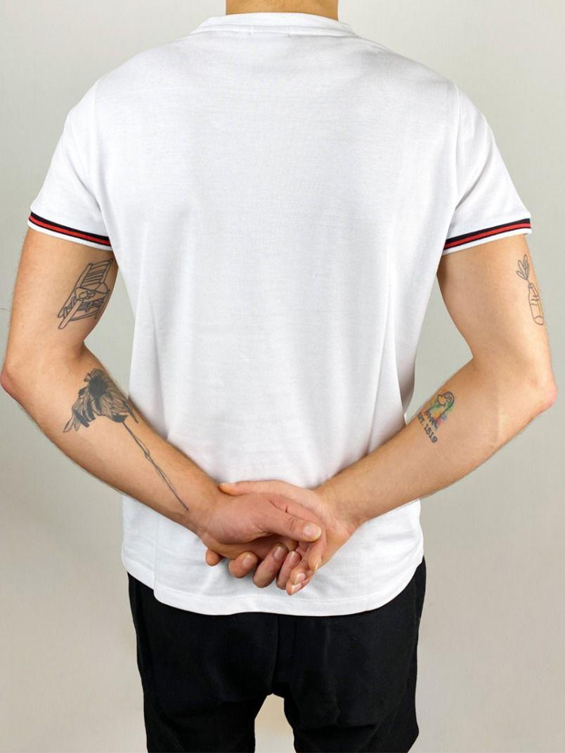 Mister B: white L T-Shirt Urban Pique Sniff