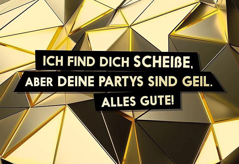 FckYouCards: Deine Partys sind geil. Alles Gute!