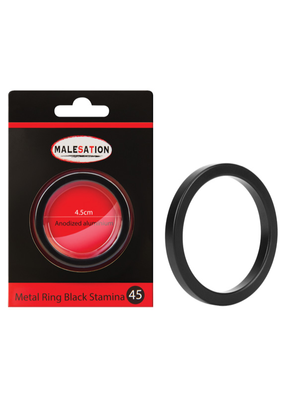 Malesation: Metal Ring Black Stamina