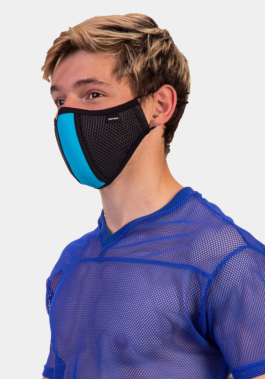 Barcode Berlin Mask Lieutenant Skyler   Grey/Blue
