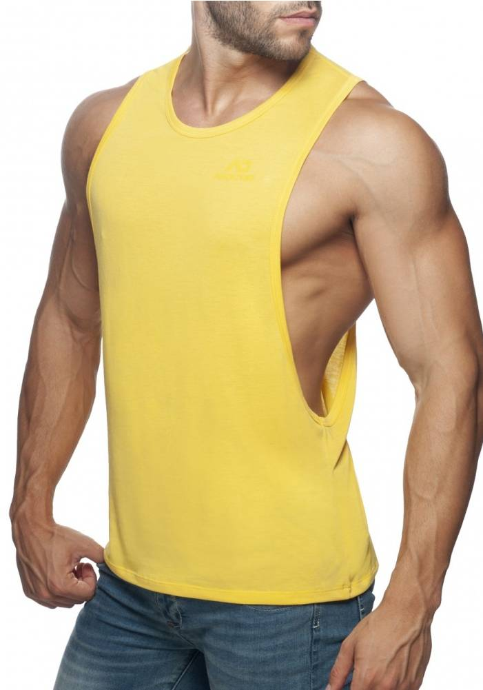 Addicted Low Rider Tank Top | Yellow