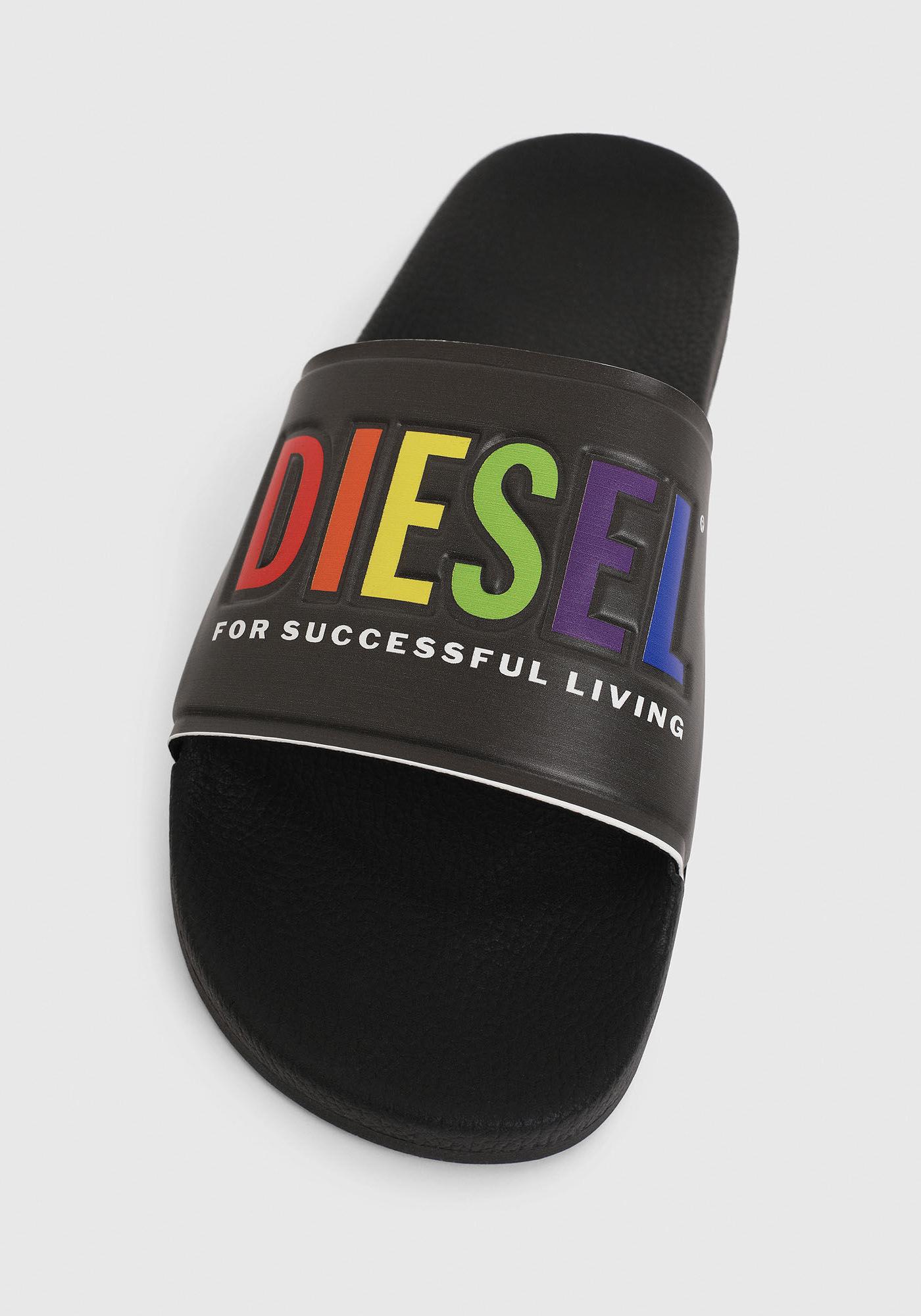 Diesel Pride Badeschuhe Black