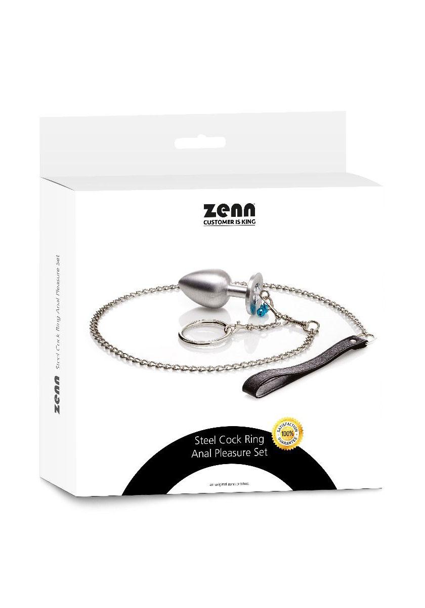 ZENN: Steel Cock Ring Anal Pleasure Set Ø 45 mm