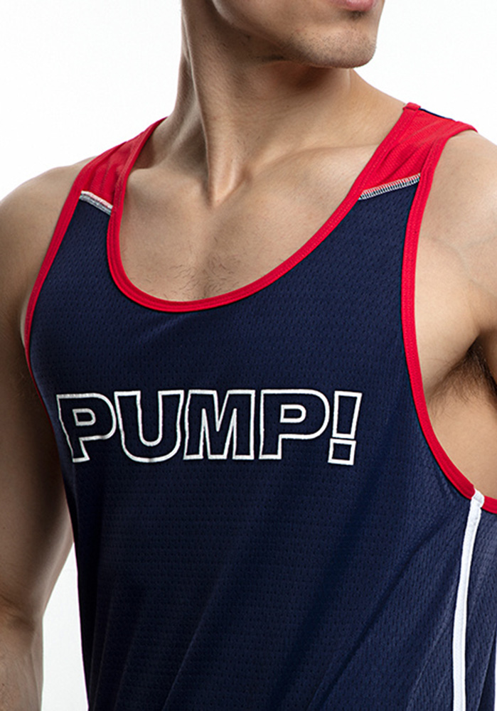PUMP! Academy Tank | navy/white/red