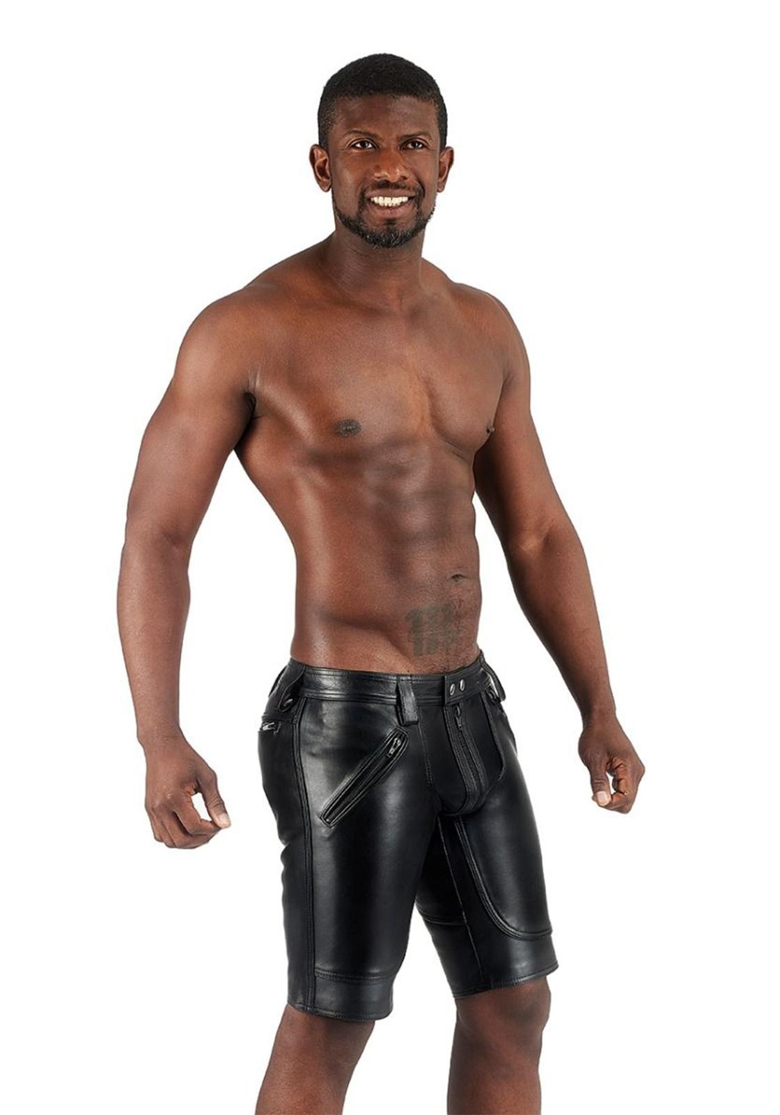 Mister B: black Gr. 36 Leder FXXXer Shorts