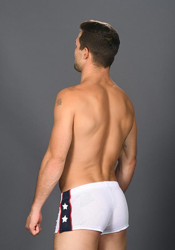 Andrew Christian Superhero Mesh Jogger Shorts