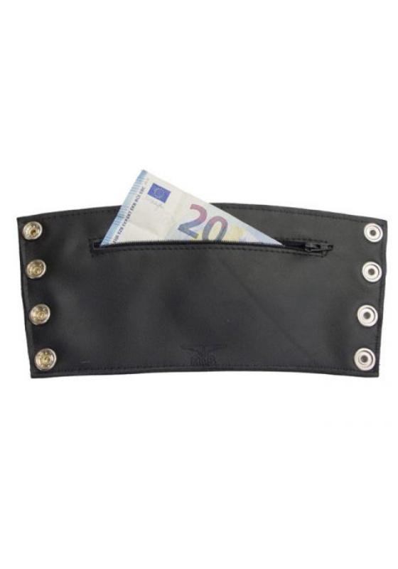 Mr. B: Leder Gauntlet Wallet Zip (black)