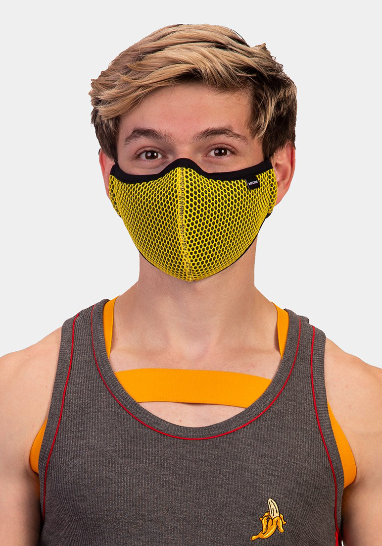 Barcode Berlin Mask General Wyatt | Yellow/Black
