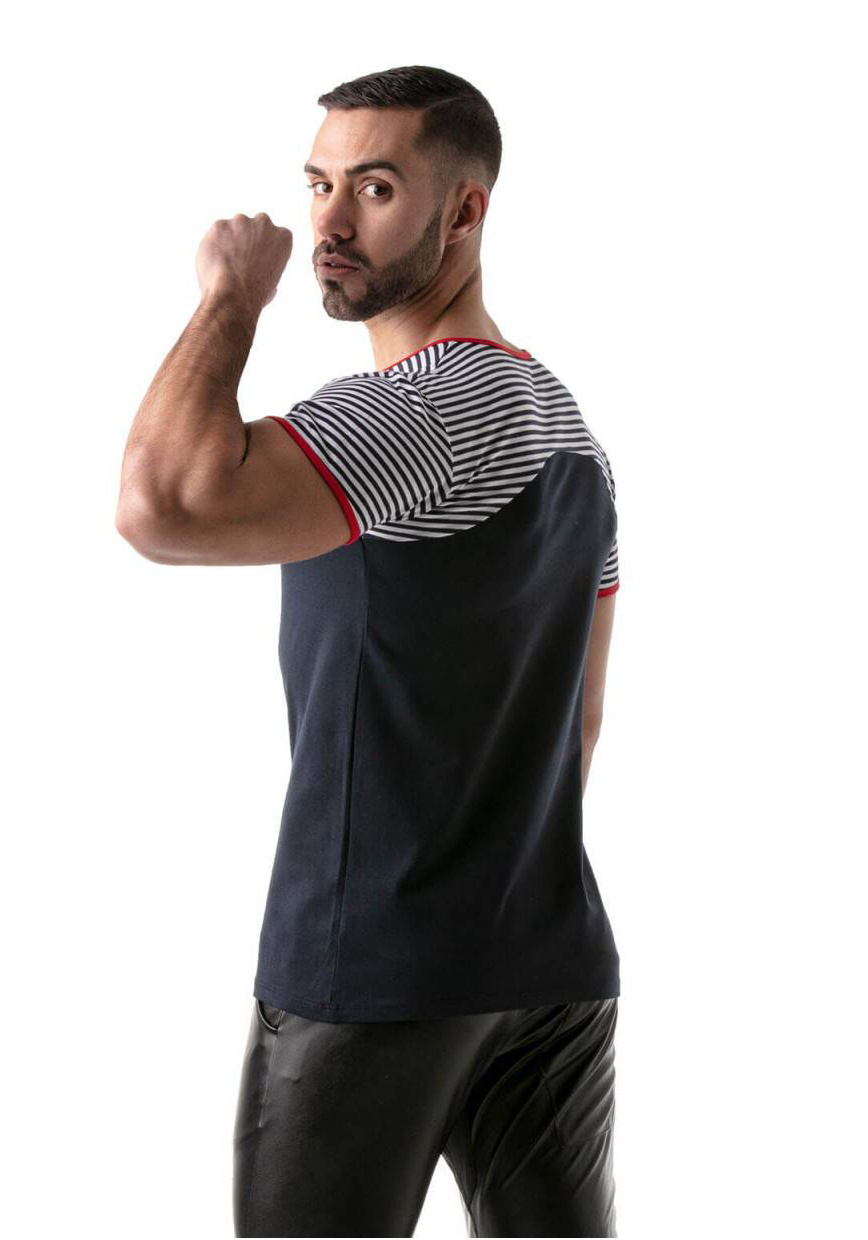 TOF T-Shirt Navy Stripes | Red