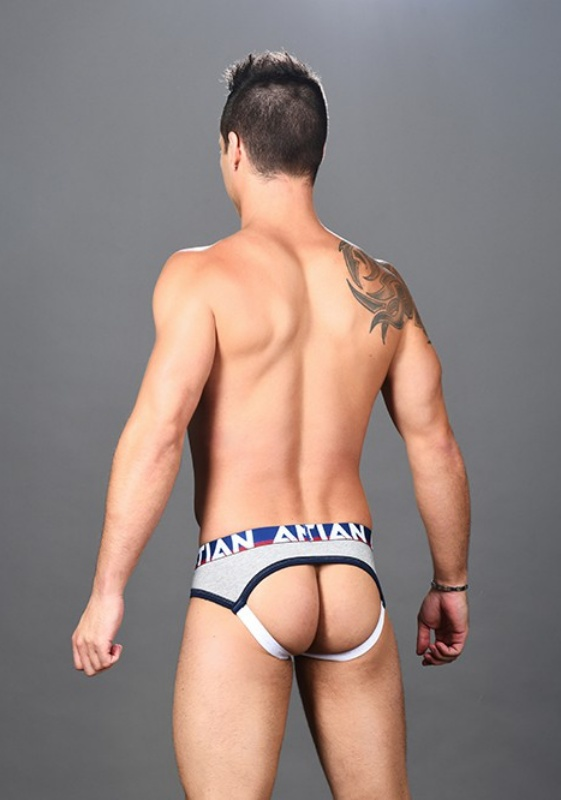 Andrew Christian Heather grey CoolFlex Arch Jock Show-It