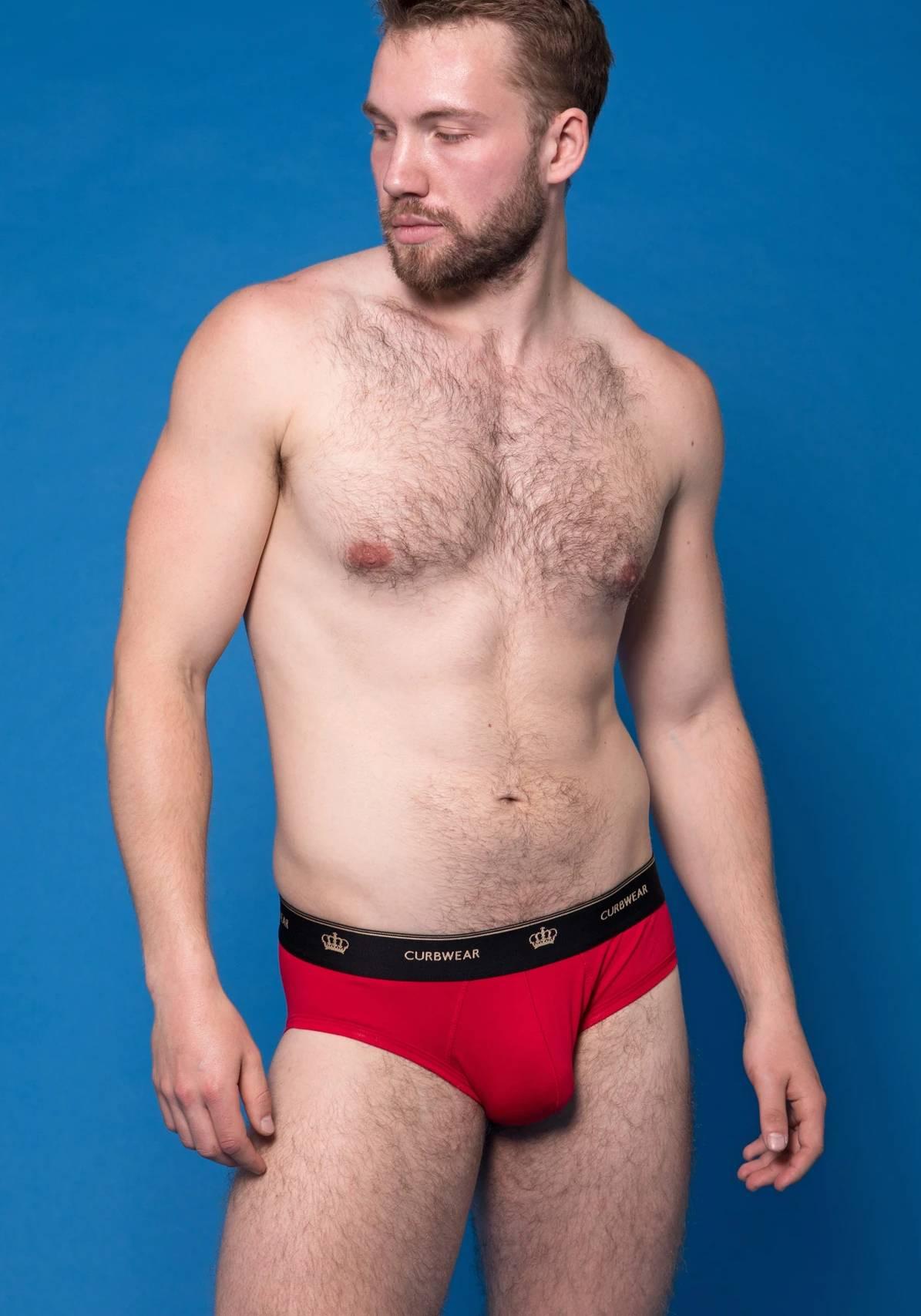 Curbwear Crown Brief   Red